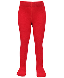 Mustang Footed Tights Stockings - Red
