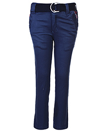 Noddy Full Pant With Belt - Blue