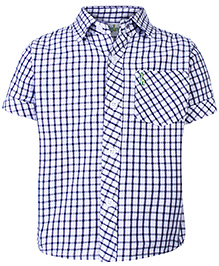 Babyhug Half Sleeves Shirt - Checks Pattern