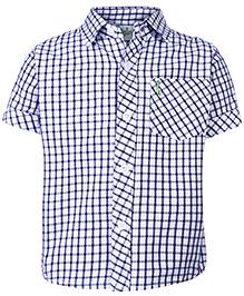 Babyhug Half Sleeves Shirt - Checks Pattern