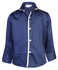 Babyhug Full Sleeves Party Shirt - Navy Blue