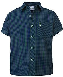 Babyhug Half Sleeves Shirt - Checks Print