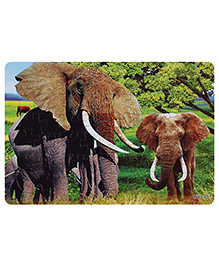 Fab N Funky Puzzle - Elephants Print