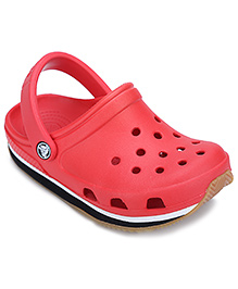 Crocs Clog With Back Strap - Red And Black