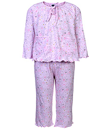 Teddy Full Sleeves Night Suit - Little Print