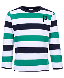 Teddy Full Sleeves Striped T-Shirt - Championship Print - 2 To 2 1/2 Years