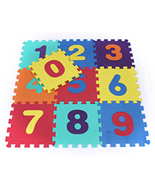Fab N Funky Number Puzzle Mat Multicolor - 10 Pieces