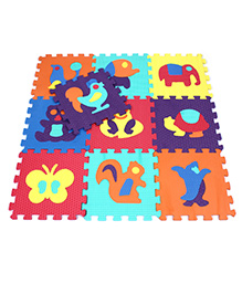 Fab N Funky Animal Design Puzzle Mat Multicolor - 10 Pieces