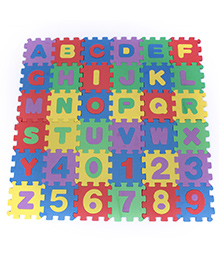 Fab N Funky Number And Alphabet Puzzle Mat Multicolor - 36 Pieces