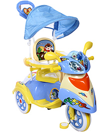 Fab N Funky Musical Tricycle - Blue And Yellow