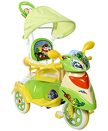Fab N Funky Musical Tricycle - Green And Yellow