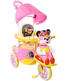 Fab N Funky Musical Tricycle Cat Face - Pink And Yellow