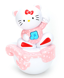 Fab N Funky Roly Poly Kitty Face - Pink And White