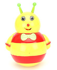 Fab N Funky Roly Poly Bee Design - Yellow And Red - 10 X 12 X 7 Cm