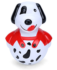 Kumar Toys Roly Poly Puppy Design - White And Black