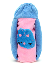 Babyhug Plush Twin Handle Bottle Cover - Pink And Blue
