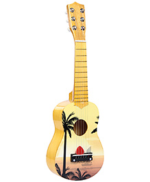 Fab N Funky Wooden Guitar - Yellow