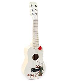 Fab N Funky Guitar White - Floral Design