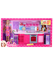Barbie Cooking Fun Kitchen With Doll - Pink - 3 Years +