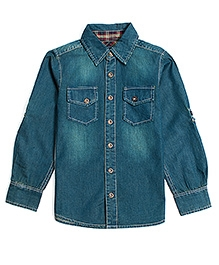 Nauti Nati Full Sleeves Denim Shirt - Blue