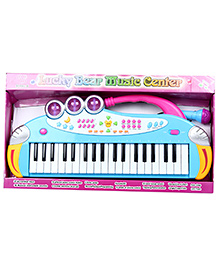 Fab N Funky Electronic Piano Keyboard With Microphone - Blue