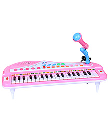 Fab N Funky Electronic Piano Keyboard With Microphone - Pink