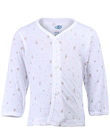 Zero Full Sleeves Vest Printed - White