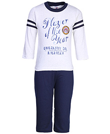 Zero Full Sleeves T-Shirt And Leggings - Player of the Year Print