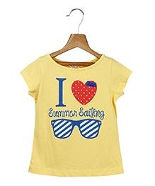 Beebay Short Sleeves T-Shirt Yellow - Summer Print