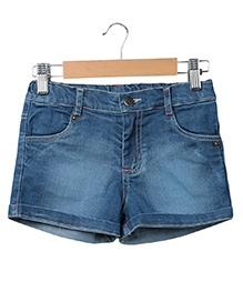 Beebay Denim Shorts - Denim Blue