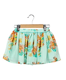 Beebay Printed Georgette Skirt - Light Green