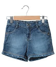 Beebay Denim Shorts - Blue