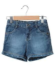 Beebay Denim Shorts - Blue