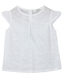 Beebay Self Embroidered Top - White