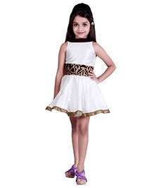 K&U Sleeveless Indowestern Dress White And Purple - Velvet Patch