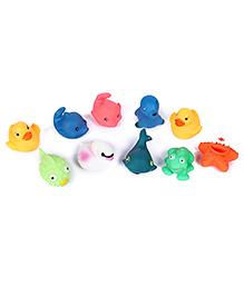 Fab N Funky Bath Toys Multicolor - Set Of 10