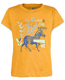 Zero Half Sleeves T-Shirt - Me And My Zebra Print