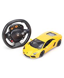 SW RC Lamborghini Car With Steering Wheel - Yellow