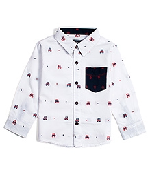 Nauti Nati Full Sleeves Shirt Urban Icon Designer - White