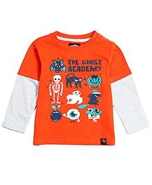 Nauti Nati Doctor Sleeves T-Shirt Orange - The Ghost Academy Print