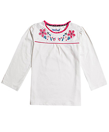 Nauti Nati Full Sleeves Top - Floral Embroidery