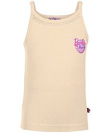 Barbie Singlet Slip Cream - Barbie Princess Print