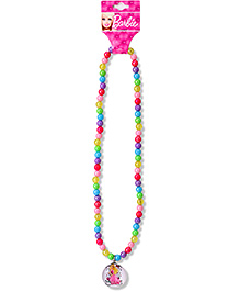 Barbie Beaded Necklace With Pendant - Multi Color