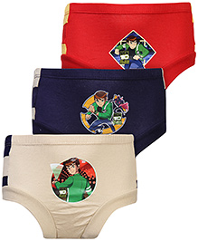 Ben 10 Printed Briefs Multi Colour - Set of 3