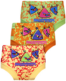 Angry Birds Allover Print Briefs Set of 3 - Green Mango Orange