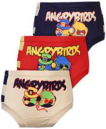 Angry Birds Printed Briefs Set of 3 - Navy Red And Cream