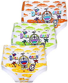 Doraemon Printed Briefs Multi Colour - Set of 3
