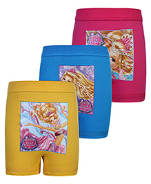 Barbie Print Bloomers Multi Colour - Set of 3