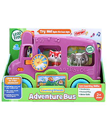 Leap Frog Learning Friends Adventure Bus - Purple - 2 Years +
