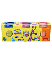 Funskool Glitter 3 Pack - 125 grams Each